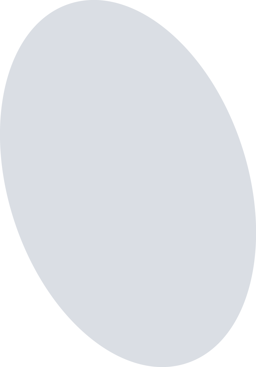 light gray oval